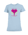 Save the Elephants Statement T-Shirt - Design 2 - Baby Blue / S - Clothing elephants womens t-shirts