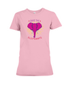 Save the Elephants Statement T-Shirt - Design 2 - Pink / S - Clothing elephants womens t-shirts