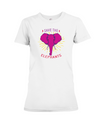 Save the Elephants Statement T-Shirt - Design 2 - White / S - Clothing elephants womens t-shirts