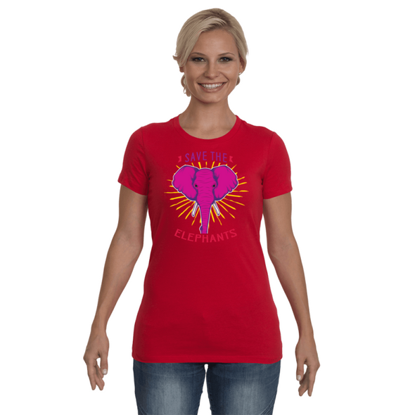 Save the Elephants Statement T-Shirt - Design 2 - Clothing elephants womens t-shirts