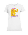 Save the Elephants Statement T-Shirt - Design 3 - White / S - Clothing elephants womens t-shirts