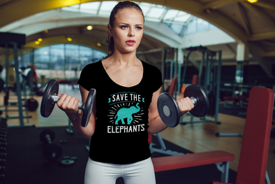 Save the Elephants Statement T-Shirt - Design 3 - Clothing elephants womens t-shirts