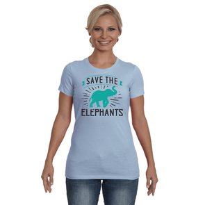 Save the Elephants Statement T-Shirt - Design 4 - Clothing elephants womens t-shirts