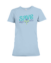 Save the Elephants Statement T-Shirt - Design 6 - Baby Blue / S - Clothing elephants womens t-shirts