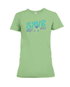 Save the Elephants Statement T-Shirt - Design 6 - Heather Green / S - Clothing elephants womens t-shirts