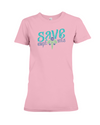 Save the Elephants Statement T-Shirt - Design 6 - Pink / S - Clothing elephants womens t-shirts