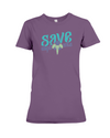 Save the Elephants Statement T-Shirt - Design 6 - Team Purple / S - Clothing elephants womens t-shirts