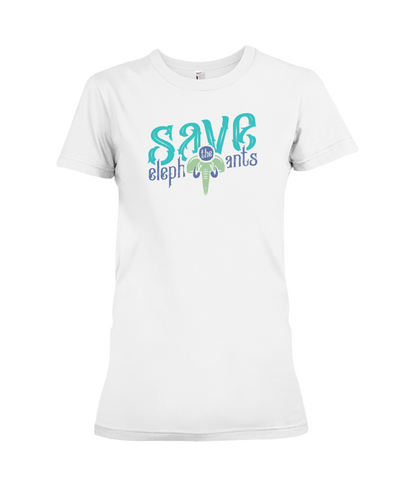Save the Elephants Statement T-Shirt - Design 6 - White / S - Clothing elephants womens t-shirts