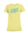 Save the Elephants Statement T-Shirt - Design 6 - Yellow / S - Clothing elephants womens t-shirts