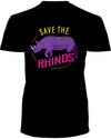 Save The Rhinos T-Shirt - Design 1 - Black / S - Clothing rhinos womens t-shirts