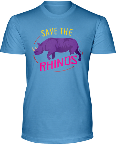 Save The Rhinos T-Shirt - Design 1 - Clothing rhinos womens t-shirts