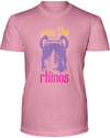 Save The Rhinos T-Shirt - Design 3 - Pink / S - Clothing rhinos womens t-shirts