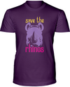 Save The Rhinos T-Shirt - Design 3 - Team Purple / S - Clothing rhinos womens t-shirts