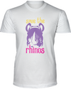 Save The Rhinos T-Shirt - Design 3 - White / S - Clothing rhinos womens t-shirts