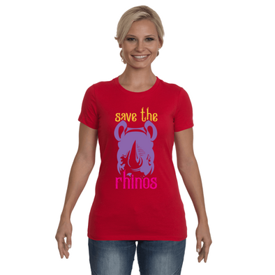 Save The Rhinos T-Shirt - Design 3 - Clothing rhinos womens t-shirts