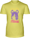 Save The Rhinos T-Shirt - Design 3 - Yellow / S - Clothing rhinos womens t-shirts