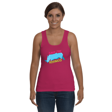 Save The Rhinos Tank-Top - Design 5 - Clothing rhinos womens t-shirts