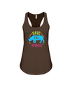 Save The Rhinos Tank-Top - Design 9 - Chocolate / S - Clothing rhinos womens t-shirts