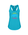 Save The Rhinos Tank-Top - Design 9 - Ocean Blue / S - Clothing rhinos womens t-shirts