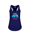 Save The Rhinos Tank-Top - Design 9 - True Royal / S - Clothing rhinos womens t-shirts