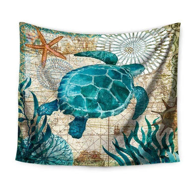 Sea Turtle Wall Tapestry - 59x78in / 150x200CM - Wall Art tapestries turtles