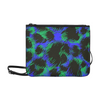 Slim Clutch Bag - New Leopard Pattern - Black-Blue-Green Leopard - Accessories big cats hot new items leopards purses
