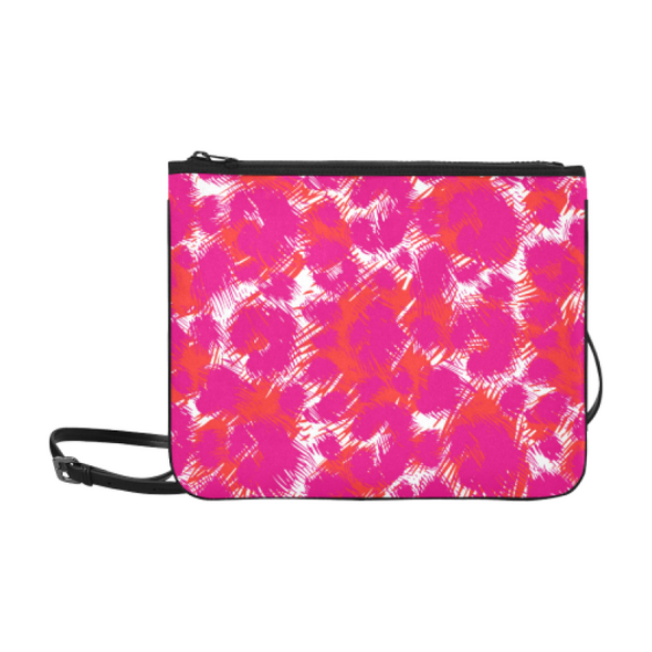 Slim Clutch Bag - New Leopard Pattern - Hot Pink-Orange-White Leopard - Accessories big cats hot new items leopards purses