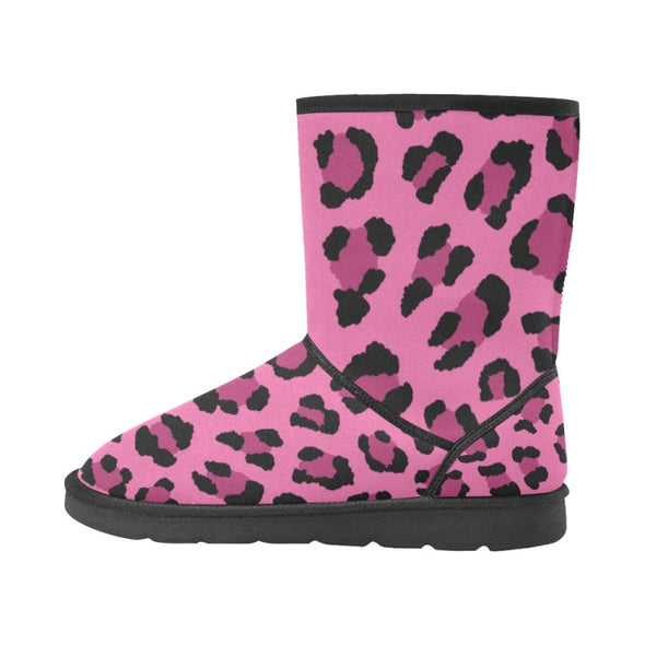 Snow Boots - Custom Leopard Pattern - Footwear Big Cats Boots Leopards Snow Boots