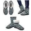 Snow Boots - Custom White Cheetah Pattern - Charcoal Cheetah / US5.5 - Footwear boots cheetahs hot new items snow boots