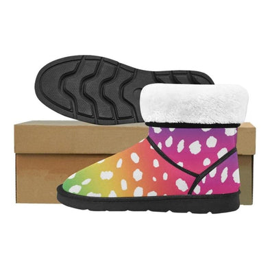 Snow Boots - Custom White Cheetah Pattern - Footwear boots cheetahs hot new items snow boots