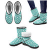 Snow Boots - Custom White Cheetah Pattern - Turquoise Cheetah / US5.5 - Footwear boots cheetahs hot new items snow boots