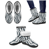 Snow Boots - Custom White Zebra Pattern - Charcoal Zebra / US5.5 - Footwear boots hot new items snow boots zebras