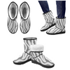 Snow Boots - Custom White Zebra Pattern - Gray Zebra / US5.5 - Footwear boots hot new items snow boots zebras