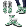 Snow Boots - Custom White Zebra Pattern - Green Zebra / US5.5 - Footwear boots hot new items snow boots zebras