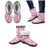 Snow Boots - Custom White Zebra Pattern - Hot Pink Zebra / US5.5 - Footwear boots hot new items snow boots zebras