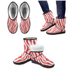Snow Boots - Custom White Zebra Pattern - Red Zebra / US5.5 - Footwear boots hot new items snow boots zebras