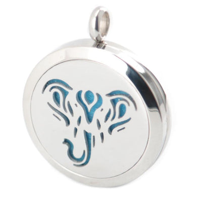 Stainless Steel Aromatherapy Oil Diffuser Elephant Locket & Necklace - Jewelry aromatherapy elephants