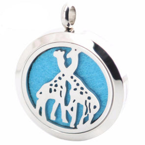 Stainless Steel Aromatherapy Oil Diffuser Giraffe Locket & Necklace - Jewelry aromatherapy giraffes necklaces
