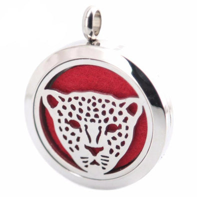 Stainless Steel Aromatherapy Oil Diffuser Tiger Locket & Necklace - Jewelry aromatherapy big cats necklaces tigers