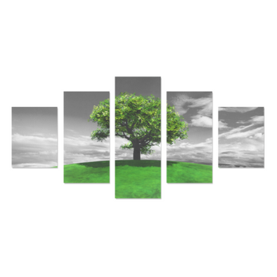 Tree on the Hill - Canvas Wall Art - Tree Green - Wall Art canvas prints trees
