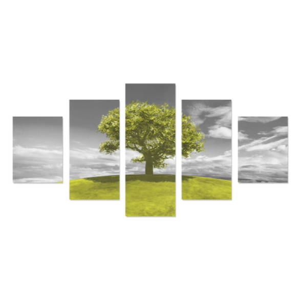 Tree on the Hill - Canvas Wall Art - Tree Light Green - Wall Art canvas prints trees