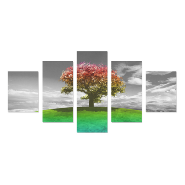 Tree on the Hill - Canvas Wall Art - Tree Orange - Wall Art canvas prints trees
