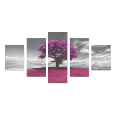 Tree on the Hill - Canvas Wall Art - Tree Pink - Wall Art canvas prints trees