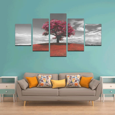 Tree on the Hill - Canvas Wall Art - Wall Art canvas prints trees