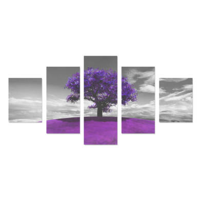 Tree on the Hill - Canvas Wall Art - Tree Purple - Wall Art canvas prints trees