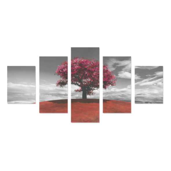 Tree on the Hill - Canvas Wall Art - Tree Red - Wall Art canvas prints trees