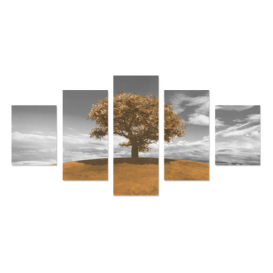 Tree on the Hill - Canvas Wall Art - Tree Yellow - Wall Art canvas prints trees