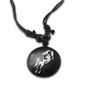 Tribal Horse Pendant & Necklace - Jewelry horses necklaces tribal