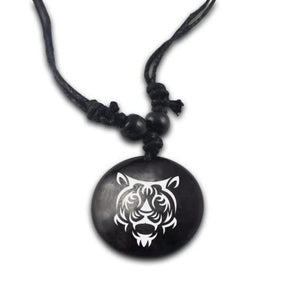 Tribal Tiger Pendant & Necklace - Jewelry big cats necklaces tigers tribal