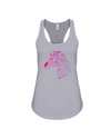 Tribal Zebra Print Tank-Top - Hot Pink/Purple - Athletic Heather / S - Clothing womens t-shirts zebras